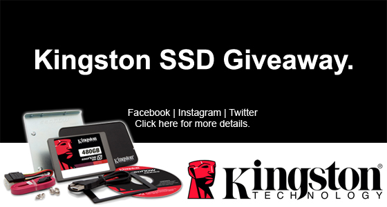 MCOW - Kingston Facebook SSD Giveaway
