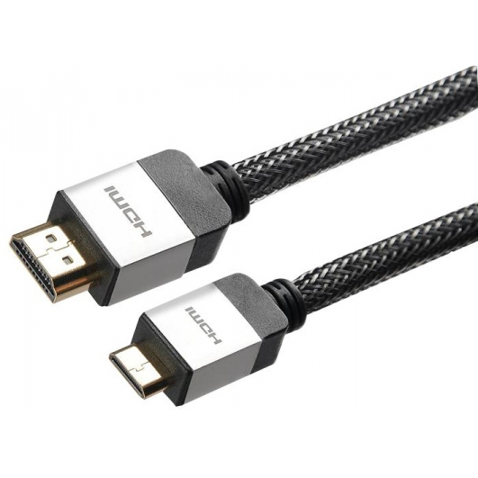 Mini C HDMI Cable Lead Braided 1.5m