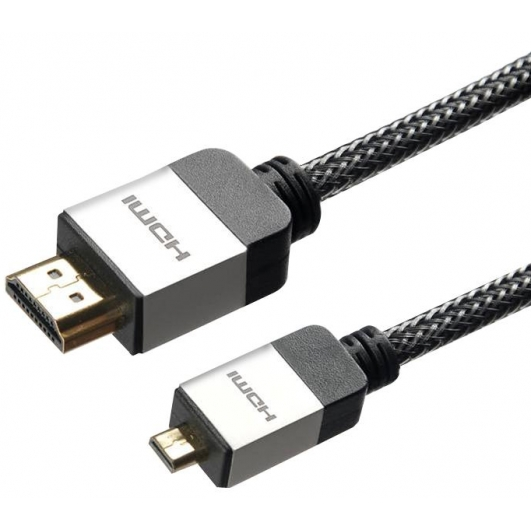 Micro D HDMI Cable Lead Braided 1.5m