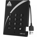 Apricorn Aegis 500GB USB 3.0 Padlock Encrypted Hard Drive With Pin