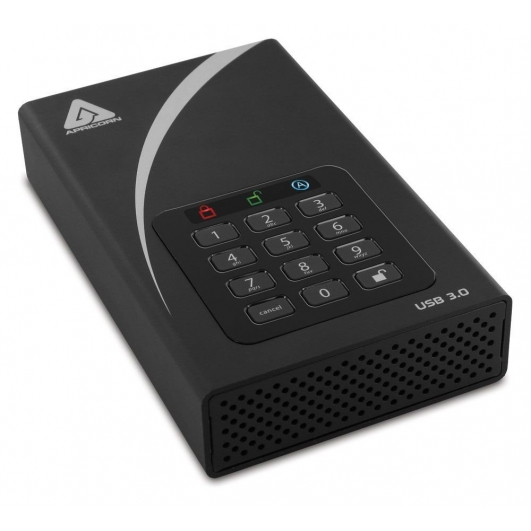 Apricorn Aegis DT 14TB External Portable Hard Drive, USB 3.0, Encrypted, Padlock
