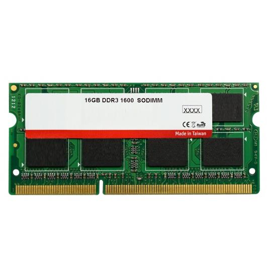 16GB (16GB x1) DDR3L RAM Memory Non ECC SODIMM 1600Mhz PC3-12800 1.35v
