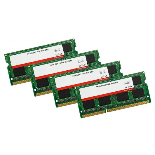 64GB (16GB x4) Kit DDR3L RAM Memory Non ECC SODIMM 1600Mhz PC3-12800 1.35v