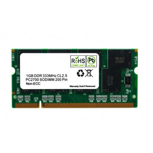 2GB (2GB x1) DDR RAM Memory Non ECC SODIMM 333Mhz PC-2700