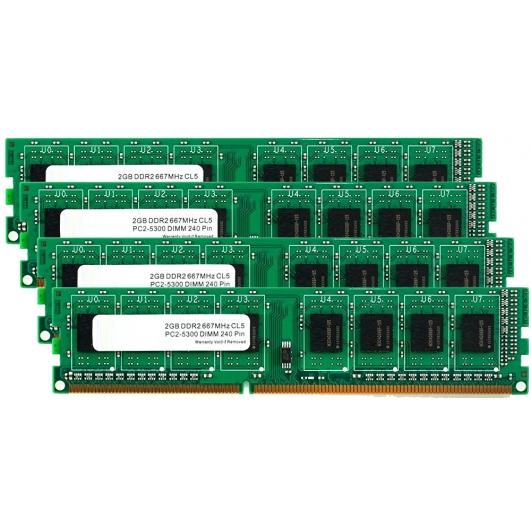 8GB (2GB x4) DDR2 RAM Memory Non ECC DIMM 667Mhz PC2-5300