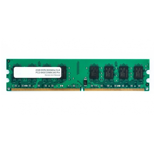 2GB (2GB x1) DDR2 RAM Memory Non ECC DIMM 800Mhz PC2-6400