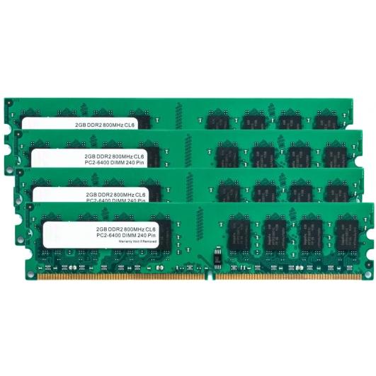 8GB (2GB x4) DDR2 RAM Memory Non ECC DIMM 800Mhz PC2-6400