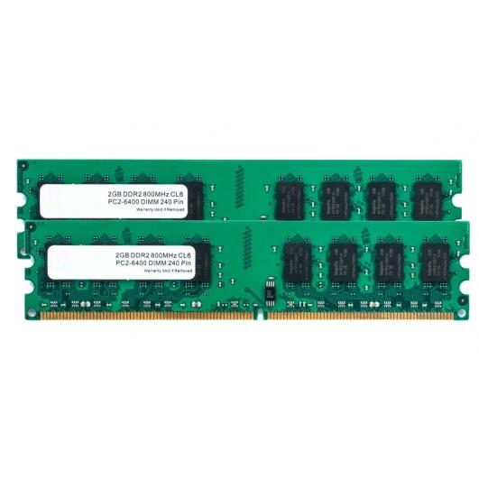 4GB (2GB x2) DDR2 RAM Memory Non ECC DIMM 800Mhz PC2-6400