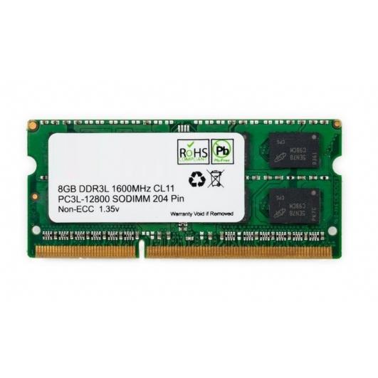 8GB (8GB x1) DDR3L RAM Memory Non ECC SODIMM 1600Mhz PC3L-12800