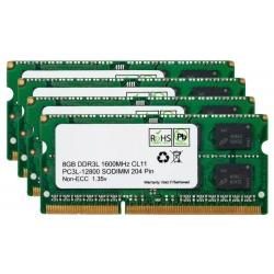 32GB (8GB x4) DDR3L 1600Mhz Non ECC Memory RAM DIMM