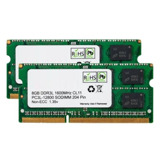 16gb 8gb X2 Ddr3l 1600mhz Non Ecc Memory Ram Sodimm
