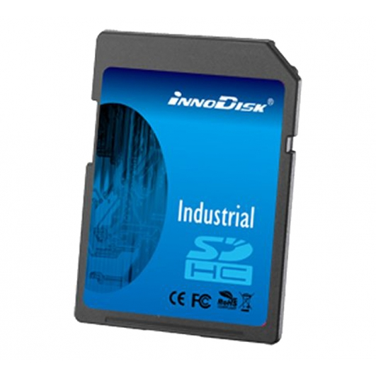 Innodisk 8GB Industrial SD (SDHC) Card 1.01/2.0, SLC, Class 10, 0C/+70C, 20MB/s R, 16MB/s W