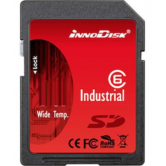Innodisk 32GB Industrial SD (SDHC) Card 1.01/2.0, SLC, Class 6, -40C/+85C, 20MB/s R, 16MB/s W