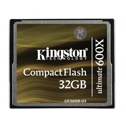 Kingston Ultimate 32GB Compact Flash (CF) Memory Card 600x