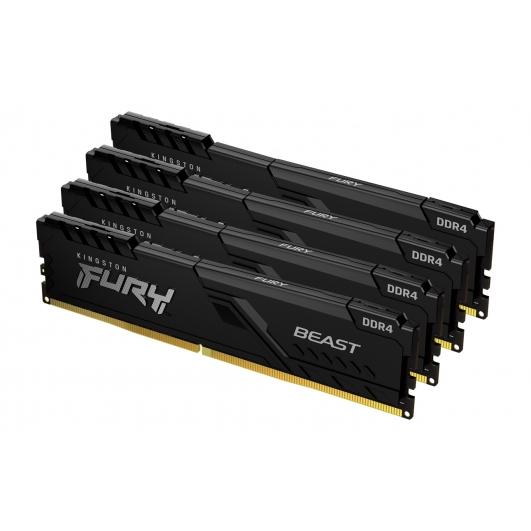 Kingston Fury Beast KF436C18BBK4/64 64GB (16GB x4) DDR4 3600Mhz Non ECC DIMM