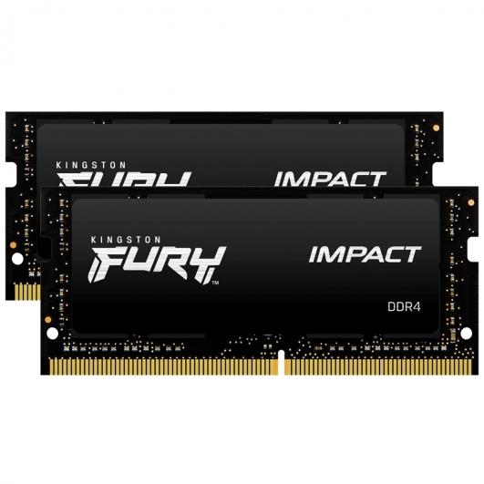 Kingston Fury Impact KF426S15IB1K2/32 32GB (16GB x2) DDR4 2666Mhz Non ECC Memory RAM SODIMM