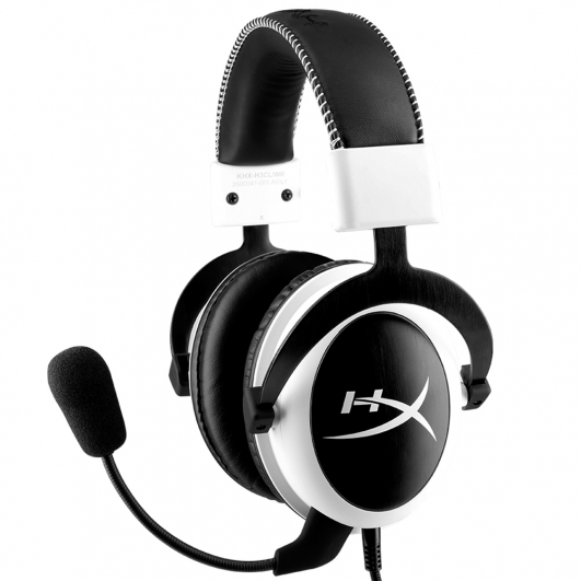 HyperX Cloud Gaming Headset With Mic White Black