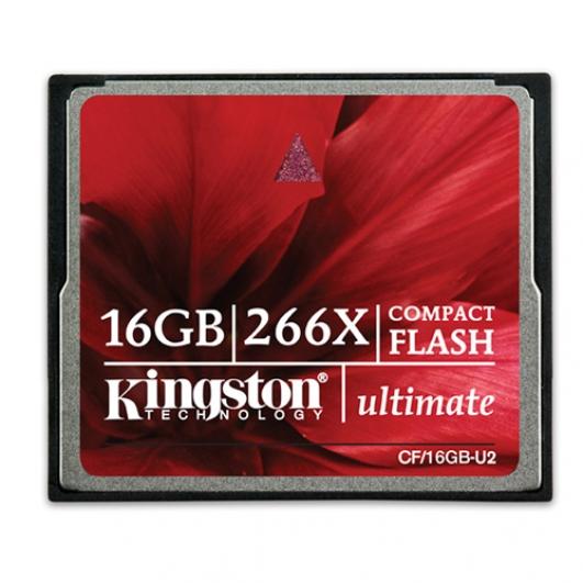 Kingston 16GB Ultimate Compact Flash (CF) Memory Card 266x
