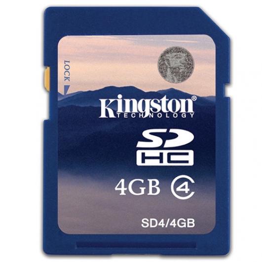 Kingston 4GB SDHC (SD) Memory Card 4MB/s