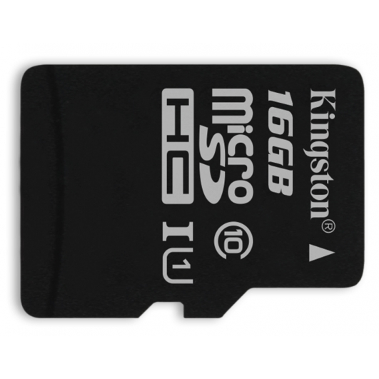 Kingston 16GB microSDHC (microSD) Memory Card Inc Adapter U1 45MB/s G2