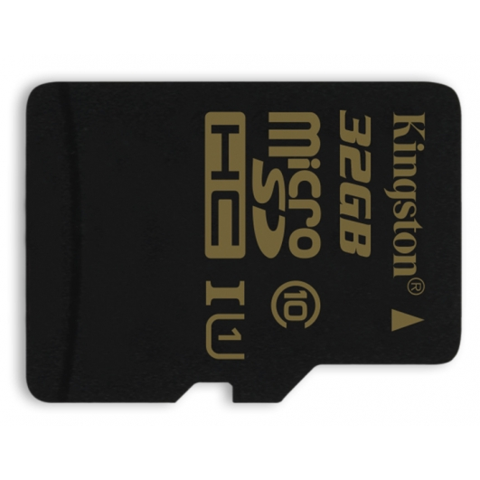 Kingston 32GB microSDHC (microSD) Memory Card Inc Adapter U1 45MB/s