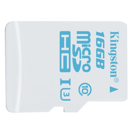 Kingston 16GB microSDHC (microSD) Memory Card Action Cam Inc Adapter U3 90MB/s