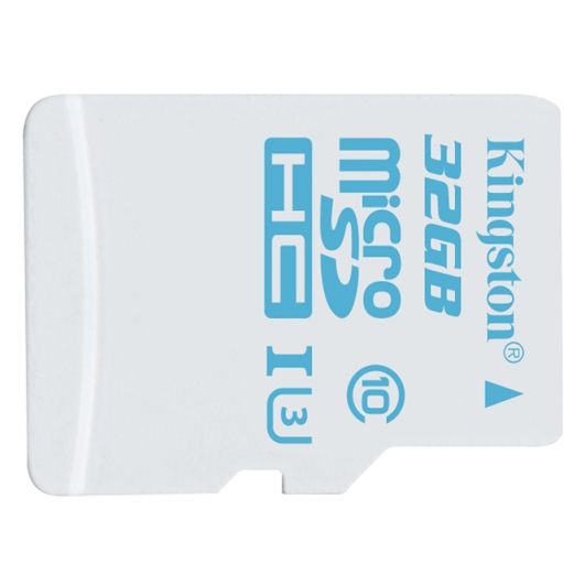 Kingston 32GB microSDHC (microSD) Memory Card Action Cam Inc Adapter U3 90MB/s