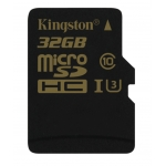 Kingston Gold 32GB microSDHC (microSD) Memory Card Inc Adapter U3 90MB/s