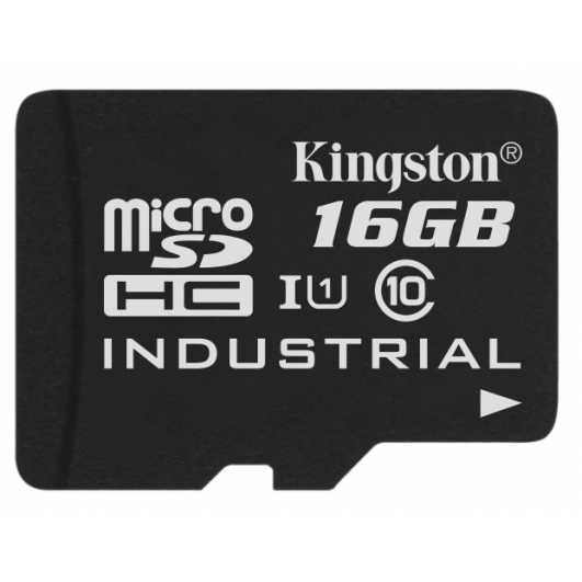 Kingston 16GB Industrial Micro SD (SDHC) Card 45MB/s R, 90MB/s W