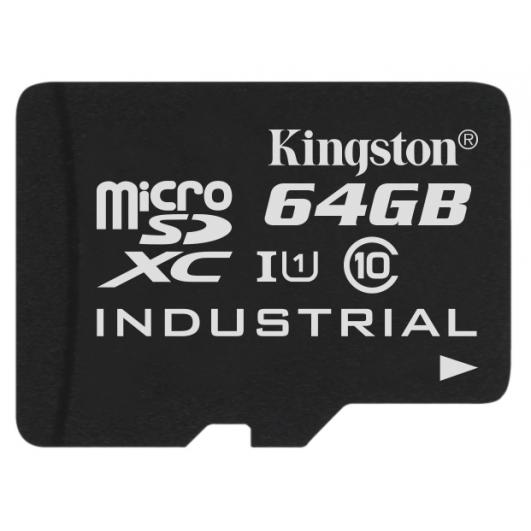 Kingston 64GB Industrial microSDXC Memory Card Inc Adapter U1 90MB/s