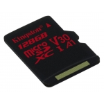 Kingston 128GB Canvas React Micro SD (SDXC) Card U3, V30, A1, 100MB/s R, 80MB/s W
