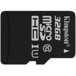 Kingston 32GB Canvas Select microSDHC (microSD) Memory Card Inc Adapter U1 80MB/s