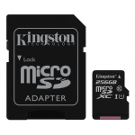 Kingston 256GB Canvas Select microSDXC Memory Card Inc Adapter U1 80MB/s