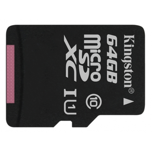 Kingston 64GB Canvas Select microSDXC Memory Card Inc Adapter U1 80MB/s