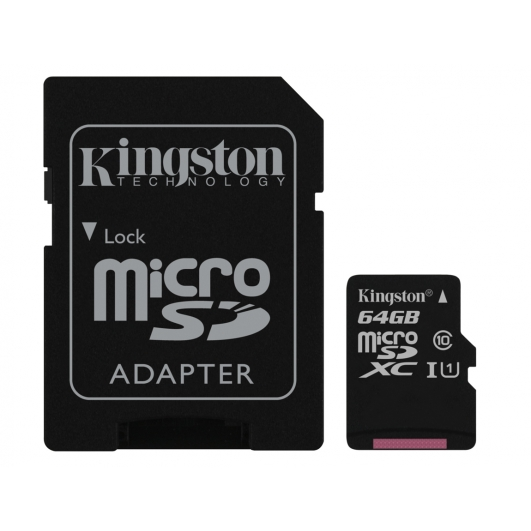 Kingston 64GB Micro SDXC Memory Card Inc Adapter U1 45MB/s G2 for Samsung  Galaxy Note 3 N9000 Mobile Phone