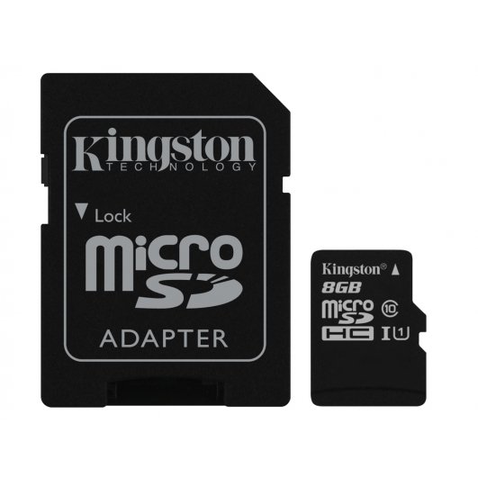 Kingston 8GB Micro SDHC (MicroSD) Memory Card Inc Adapter U1 45MB/s G2 for Samsung  Galaxy Note 3 N9000 Mobile Phone