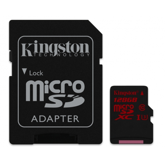 Kingston 128GB Micro SDXC Memory Card Inc Adapter U3 90MB/s for Samsung  Galaxy Note 3 N9000 Mobile Phone
