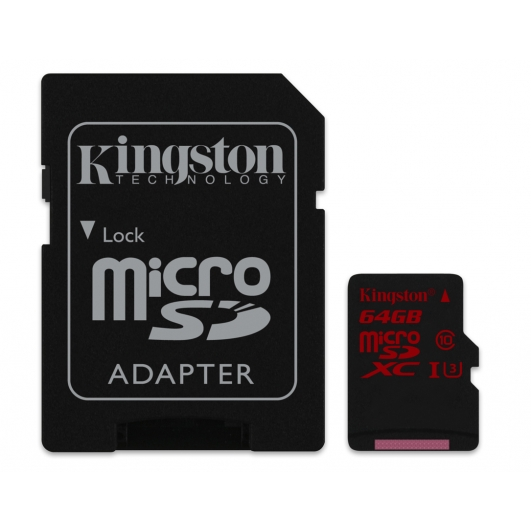 Kingston 64GB Micro SDXC Memory Card Inc Adapter U3 90MB/s for Samsung  Galaxy Note 3 N9000 Mobile Phone