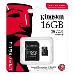 Kingston 16GB Industrial Micro SD (SDHC) Card U3, V30, A1, 100MB/s R, 80MB/s W