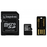 Kingston 16GB microSDHC (microSD) Memory Card With Reader U1 10MB/s