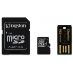 Kingston 32GB microSDHC (microSD) Memory Card With Reader U1 10MB/s