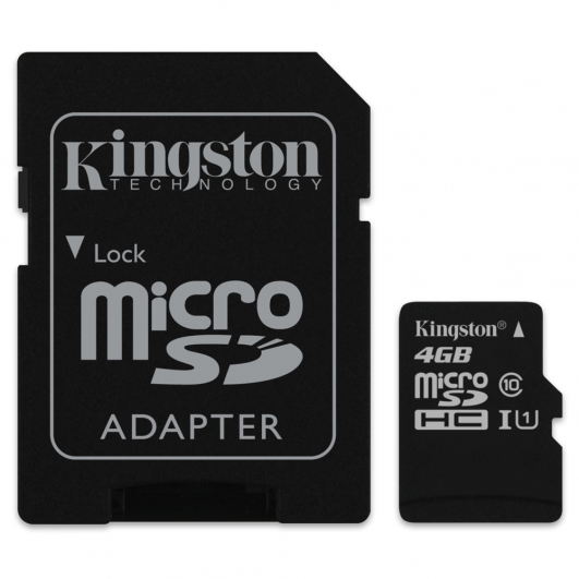 Kingston 4GB Micro SDHC (MicroSD) Memory Card Inc Adapter U1 10MB/s for Samsung  Galaxy Note 3 N9000 Mobile Phone
