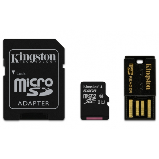 Kingston 64GB Micro SDXC Memory Card With Reader U1 10MB/s for Samsung  Galaxy Note 3 N9000 Mobile Phone