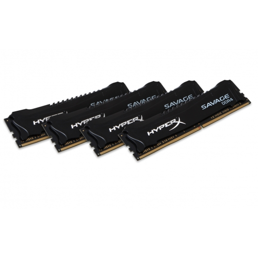 HyperX Savage Black 64GB Kit (16GB x4) DDR4 PC4-19200 2400MHz RAM Memory DIMM