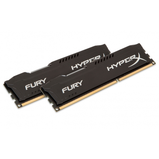HyperX Fury Black 8GB (4GB x2) DDR3 PC3-10600 1333MHz RAM Memory 1.5v CL9 DIMM