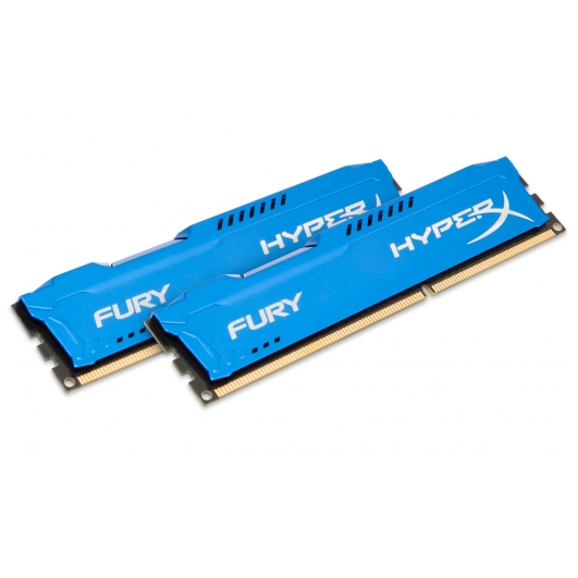 HyperX Fury Blue 8GB (4GB x2) DDR3 PC3-12800 1600MHz RAM Memory 1.5v CL10 DIMM