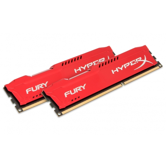 HyperX Fury Red 8GB (4GB x2) DDR3 PC3-12800 1600MHz RAM Memory 1.5v CL10 DIMM