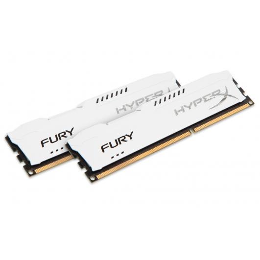 HyperX Fury HX313C9FWK2/16 White 16GB (8GB x2) DDR3 1333Mhz Non ECC Memory RAM DIMM