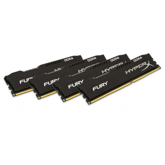 HyperX Fury HX426C15FBK4/16 Black 16GB (4GB x4) DDR4 2666Mhz Non ECC Memory RAM DIMM