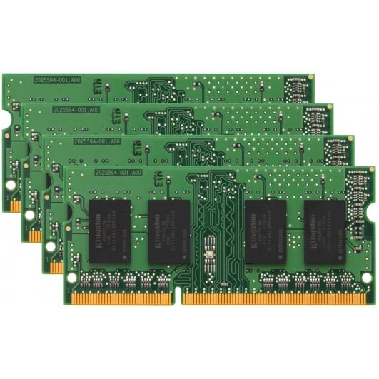 Kingston 16GB (4GB x4) DDR3 RAM Memory Non ECC SODIMM 1333Mhz PC3-10600 1.5v